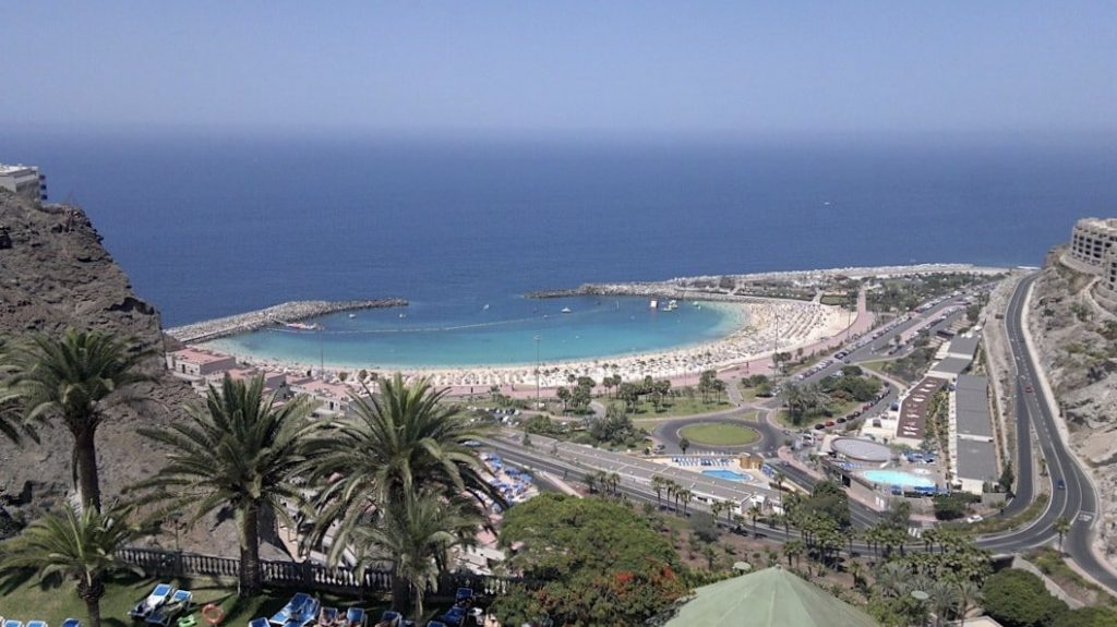Amadores Beach in Gran Canaria, Canary Islands
